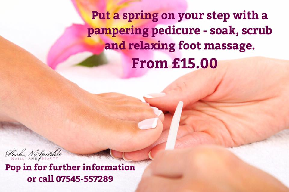 Pampering Pedicure - soak, scrub and massage